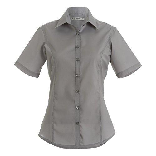 Kustom Kit Camicia a Manica Corta - Donna Azzurro