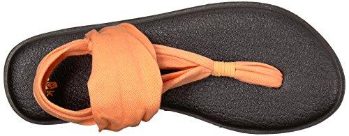 Sanuk Damen Yoga Sling#2 Zehentrenner Orange (Papaya)
