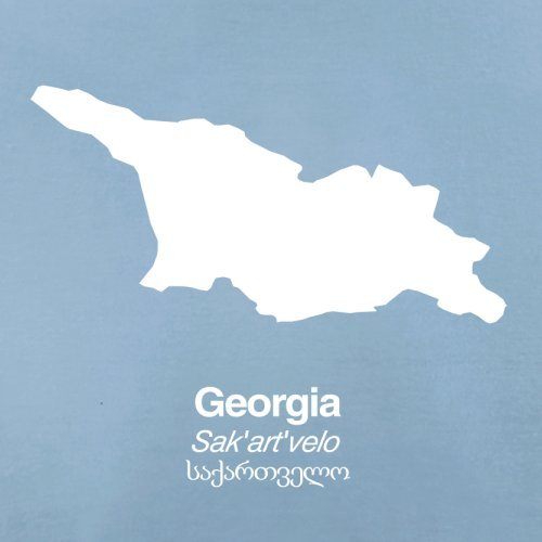 Georgia / Georgien Silhouette - Herren T-Shirt - 13 Farben Himmelblau