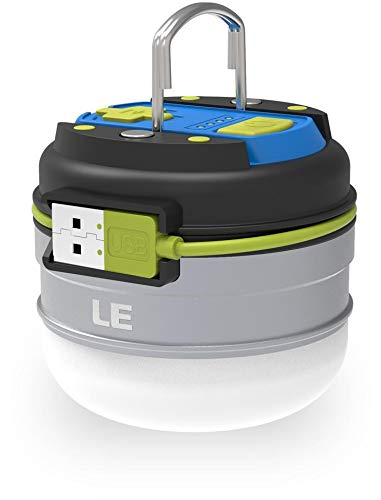 LE LED Campinglampe, Wiederaufladbare Suchscheinwerfer mit 3000mAh Powerbank, tragbar & handlich, mit Haken, 3 Helligkeiten Dimmbar Notfallleuchte für Stromausfällen, Wandern, Camping, Notfall usw.