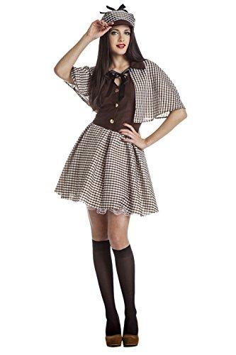 Damen Kostüm Detektiv - Kostüm Sherlock Holmes, Erwachsene (Size S)