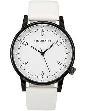 JSDDE Uhren,Einfaches Damen Armbanduhr Japanische-Quarzwerk Quarzuhr PU Lederarmband Casual Business Kleid Uhren...