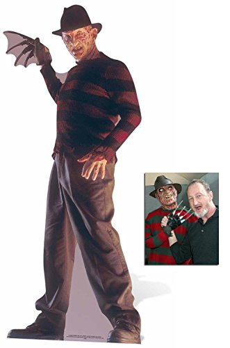 Fan Pack - Freddy Krueger Nightmare on Elm Street (Mörderische Träume) Lebensgrosse Pappfiguren / Stehplatzinhaber / Aufsteller - Enthält 8X10 (25X20Cm) starfoto