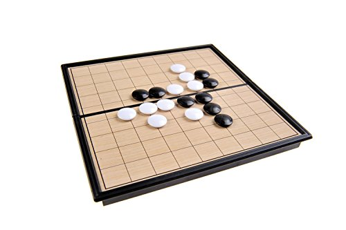 Magnetisches Brettspiel (Super Mini Reise-Edition): I-Go magnetische Spielsteine, Spielbrett zusammenklappbar, 13cm x 13cm x 1, 2cm, Mod. SC5212 (DE)