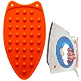 CONNECTWIDE® Silicon Iron Resting Pad .Rest Ironing Pad Hot Mat Ironing Helpers Ironing Insulation Boards Size : 30 * 18 * 0.5 cm (1 Pack) (Orange)