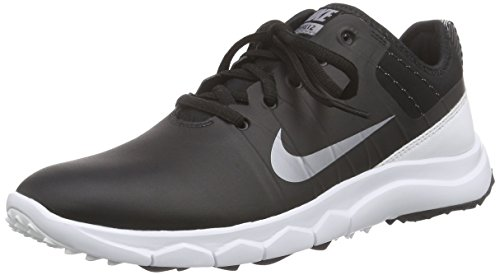 Nike Damen FI Impact 2 Golfschuhe, Schwarz (Black/Metallic Cool Grey/White 002), 39 EU