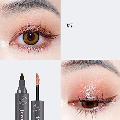 Black Shimmer Eyeliner (Cwemimifa Glimmerstick Diamonds Augenkonturenstift Kajalstift Black Ice,Zwei-in-einem-Shimmer Eyeliner Pearl Liquid Lidschatten Eyeliner Pen,G)