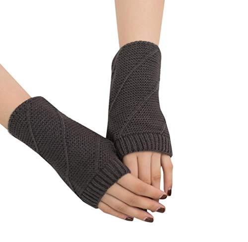 Winter Gestrickte Fingerlose Armstulpen Warm Strick Handschuhe Pulswärmer für Damen Mädchen