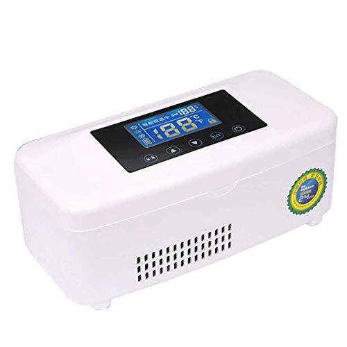 Kievy Insulin Kühlschrank,Tragbare Insulin-Kühlbox Intelligente Wiederaufladbare Mit Temperaturanzeige Medizin-Kühlschrank Für Auto, LKW Und Steckdose, Home-Travel-Box A+++