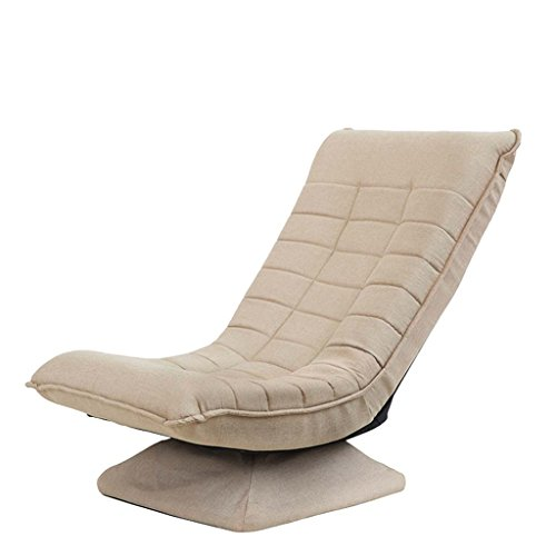 Nichtstuer Faules Sofa Stillstuhl Single 360 ° Quadratische Basis Drehstuhl Fünfstufig...