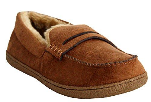 Chaussures type mocassin - Pour homme - Confortables et légères avec doublure intérieure en fourrure - Taille 41 - 47 peau