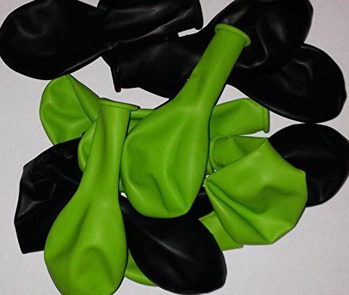 50 pistazie-grün-schwarz-Latex-Ballon-Luftballon-s-Kinder-Geburtstag-Hochzeit-Durchmesser 25 cm Herkunft Spanien ,nicht Gesundheitsschädlich vom Sachsen Versand