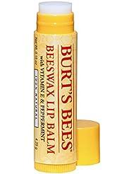 Burt's Bees 100% Natürlicher Lippenbalsam, Beeswax mit Vitamin E & Pfefferminz, 1er Pack (1 x 4,25 g)