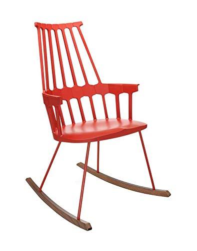 Kartell Comback Sessel, Plastik, rot, 59 x 99 x 58 cm -