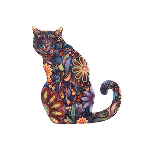 Carry stone Nette Acryl Katze Brosche passt Jacke Schal Tasche Anhänger Charme Zubehör, Stil 3 langlebig und nützlich