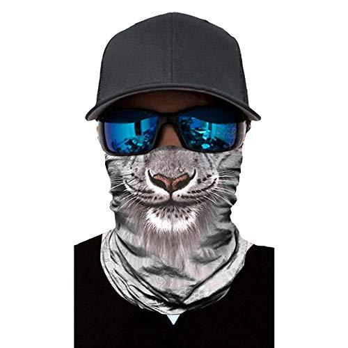 Tiersportmaske im Freien Reitkragen magische Tiara Stirnband 3D-Handtuch Digitaldruck Sonnencreme Maske
