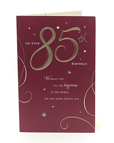 Glückwunschkarte zum 85. Geburtstag–Auf Sie 85. Geburtstag