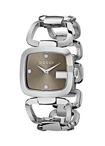 Gucci YA125401 - Reloj de cuarzo para mujer, correa de acero inoxidable