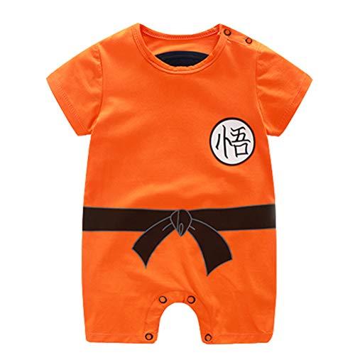 Cosplay Kostüm Ball Dragon - Dragon Ball Z Design Baby Jungen Mädchen Strampler Cosplay Kostüm Goku-inspiriert Säugling Outfit Overall Kleidung