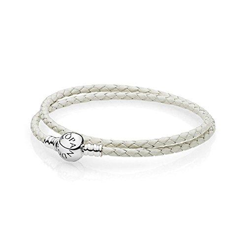 Pandora braccialetto intrecciato donna argento - 590745ciw-d1