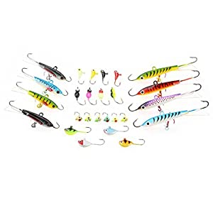 Milepet Fishing Lure Kit Texas Rig Tackle Baits,Including