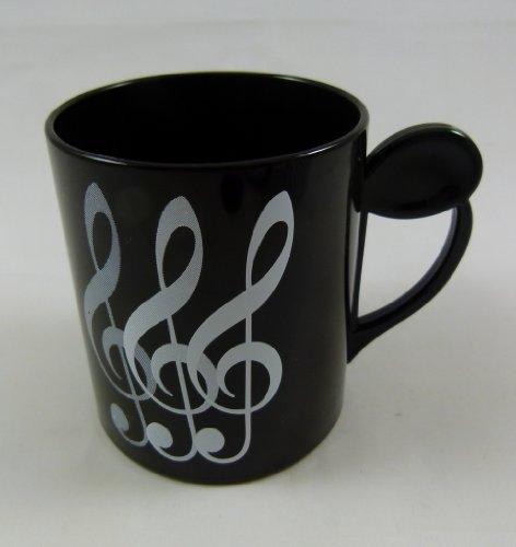 Tasse potable orienté de musique Musique Treble Clef conception plastique 250ml