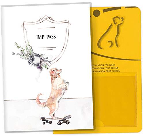Impfpass Hülle für Tiere Cosmo Hunde Tierausweis Schutzhülle schöne Geschenkidee (Space Loo, Impfpasshülle ohne Personalisierung)