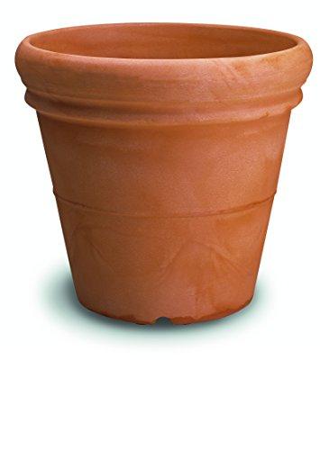 Resin Smooth Vase with Double Edge cm. 100 Tortora -