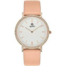 Qudo Ladies Watch Pink/4S/hellgrau 801583