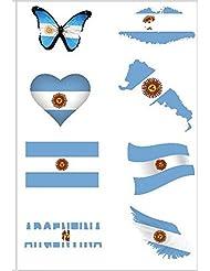 Etiqueta Engomada del Tatuaje Temporal de Argentina para el Cuerpo y la Cara Etiqueta Engomada del