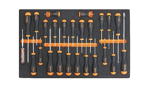 Beta Werkzeuge Thermoform Weich 2450M204mit Sortiment 6Schraubendreher Torx 1267Tx