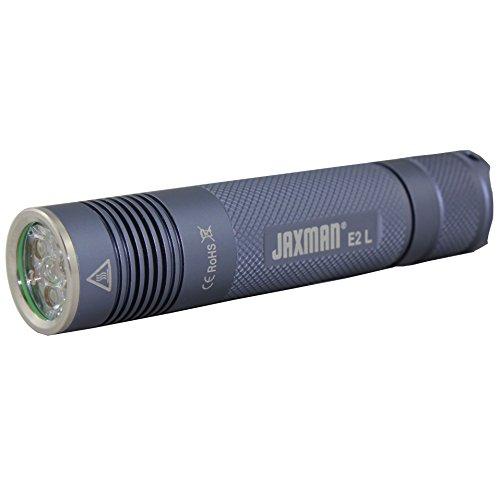 JAXMAN E2L 3LED TIR LENS Taschenlampe 18650 Fackel XPG2 Max 900lumen / Camping Radfahren im Freien / Verwenden Sie 1x 18650 wiederaufladbare flache Oberseite (65mm Länge) Batterie (keine Batterie eingeschlossen) (kühles Weiß) (Batteriebetriebenes Stroboskop Licht)