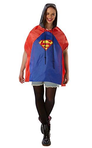 Rubie 's Offizielles Superman Festival Poncho, Erwachsenen-Kostüm–One (Fancy Kostüm Dusche Dress)