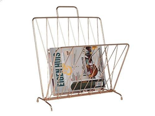 Present Time - Zeitschriftenständer - Magazinständer - Metall - klappbar - Farbe: Kupfer 27 x 40 x 56 cm