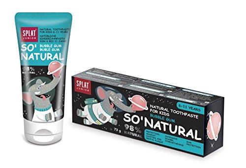 SPLAT Junior Bubble Gum Pasta de dientes natural para niños de 6 a 11...