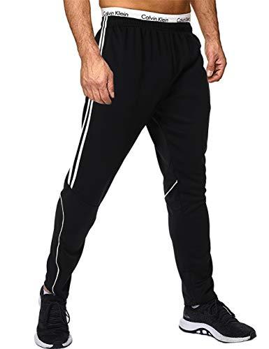 FITTOO Herren 2 Gestreift Streifen Lange Trainingshose Jogging-Hose Sport-Hose