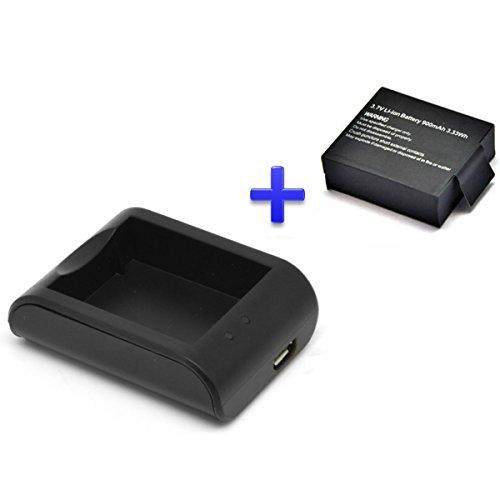 theoutlettablet® Chargeur Externe pour Caméra sport Action DV SJCAM SJ4000SJ5000–vTIN eypro 1Sport Cam + batterie remplacement 900mAh
