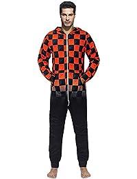 Belle Boutique Womens Hooded Leopard Print Jumpsuit Ladies All In One Loungewear