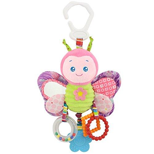 Zantec Baby Plüsch Tier Kinderwagen Bett Hängende Spielzeug Gefüllte Handbell Rattle mit Teether Geschenk für (Kostüm Alter 13 Batman)