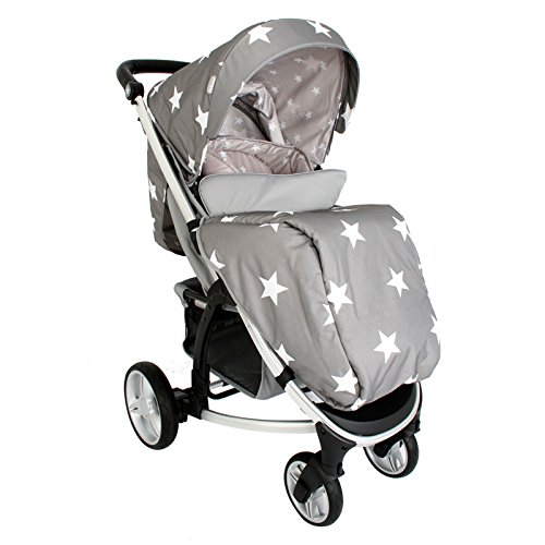 My Babiie Billie Faiers MB200 Grey Stars Pushchair Best Price and Cheapest