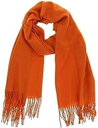 FASHIONGEN - Echarpe pashmina homme et femme douce en laine, BACHRA 69531b65b23