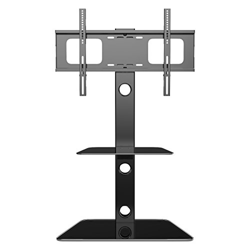 1home Cantilever Glass Stand with Swivel Bracket for LCD/LED TV Upto 30 to 55-Inch
