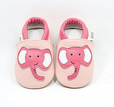 Goldore 100% cuir véritable semelle souple Newborn Infant Toddler antidérapants Chaussures pré-walker