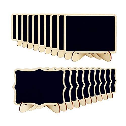 Mini Lavagna,Piccola Lavagna Bordo di legno nero per i messaggi decorativi dell'alimento del messaggio di numero della Tabella di nozze del partito