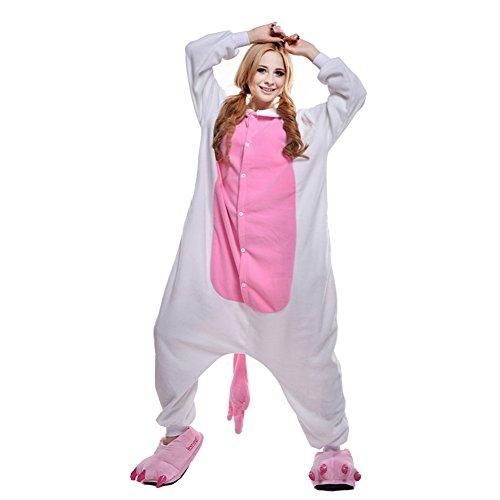 Free Fisher Damen/ Herren Schlafanzug Pyjama, Tier Kostüm, Einhorn Rosa, Gr. XL (Körpergröße 178-188 CM)