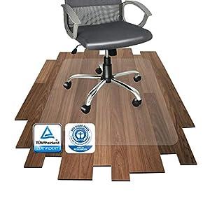 Floordirekt PRO - 12 Größen zur Wahl - Polycarbonat Bodenschutzmatte transparent mit TÜV für Hartböden