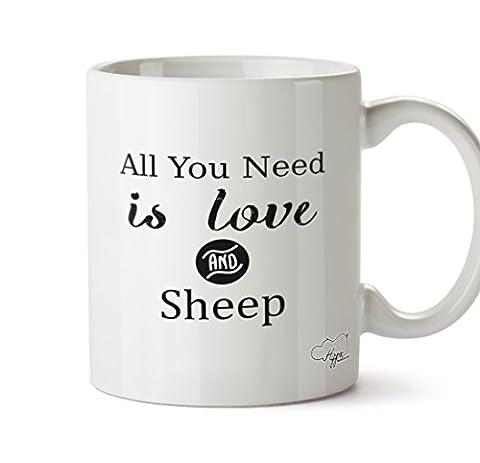 Hippowarehouse tout ce dont vous avez besoin est Amour et une tasse mug Mouton 283,5gram, Céramique, blanc, One Size