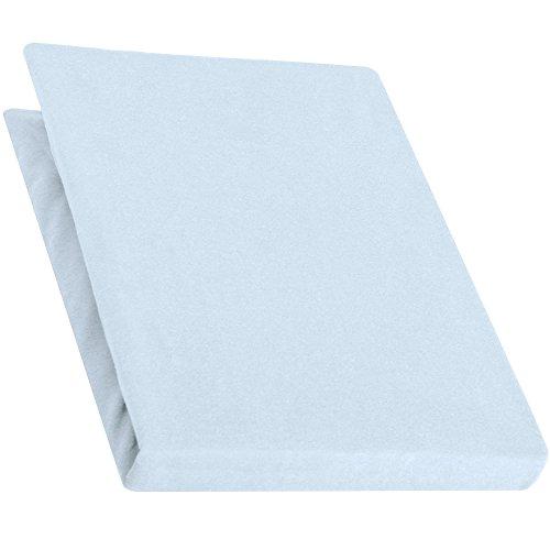 aqua-textil Pur Spannbettlaken aqua blau 140x200 - 160x220 Boxspringbett Wasserbett Bettlaken Jersey Baumwolle 0010169