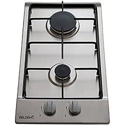 Domino de cuisson à gaz double foyer - BELDEKO BTG2Z-C01IX