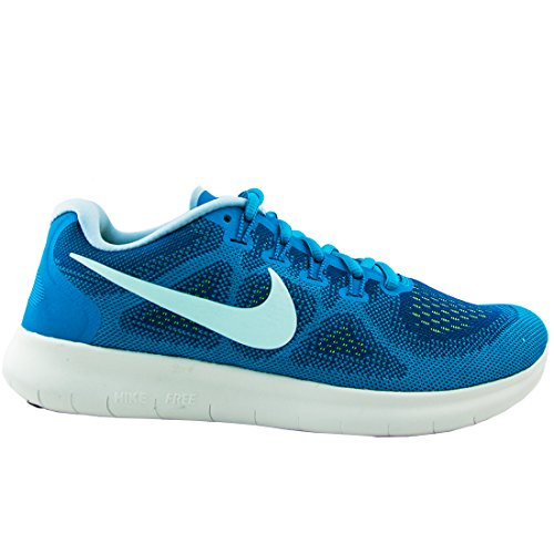 NIKE Womens Free RN 2017 Running Trainers 880840 Sneakers Shoes (UK 7 US 9.5 EU 41, Gym Blue Glacier Blue 401) (Womens Basketball Blue)